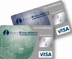 Cartão de crédito Visa travel Money
