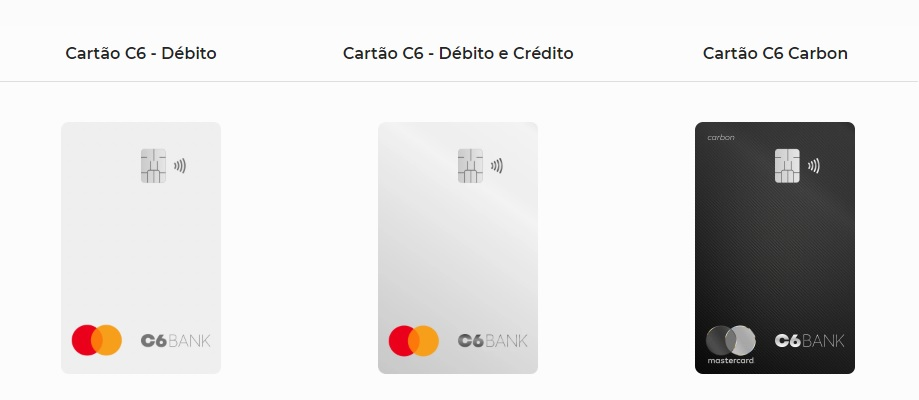 Solicitar cartão de crédito C6 Bank